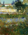 vincent van gogh garden with flowers painting