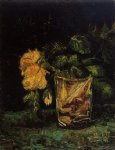 vincent van gogh glass with roses painting 23473