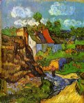 vincent van gogh houses in auvers v painting 23489