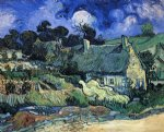vincent van gogh houses with thatched roofs cordeville painting 23491