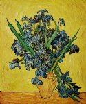 irises in a vase ii by vincent van gogh painting-23495