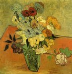 vincent van gogh japanese vase with roses and anemones painting 23499