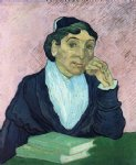 portrait paintings - l arlesienne portrait of madame ginoux ix by vincent van gogh