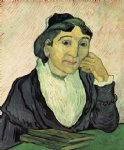 portrait paintings - l arlesienne portrait of madame ginoux v by vincent van gogh