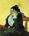 portrait paintings - l arlesienne portrait of madame ginoux vi by vincent van gogh