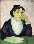 portrait paintings - l arlesienne portrait of madame ginoux viii by vincent van gogh