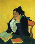 portrait paintings - l arlesienne portrait of madame ginoux x by vincent van gogh