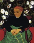 portrait paintings - la berceuse portrait of madame roulin v by vincent van gogh