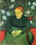 portrait paintings - la berceuse portrait of madame roulin vi by vincent van gogh