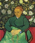 portrait paintings - la berceuse portrait of madame roulin by vincent van gogh