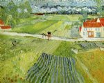 vincent van gogh landscape with carriage and train painting