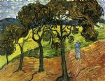 vincent van gogh landscape with trees and figures oil painting