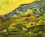 vincent van gogh les alpilles mountain landscape near south oil painting