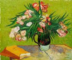 majolica jar with branches of oleander 1888 by vincent van gogh painting