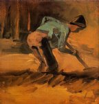 vincent van gogh man digging painting
