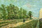 vincent van gogh man with spade in a suburb of paris paintings