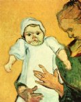 vincent van gogh mother roulin with her baby v painting-23554