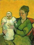 vincent van gogh mother roulin with her baby painting-23555