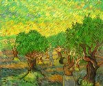 vincent van gogh olive grove with picking figures ii oil painting