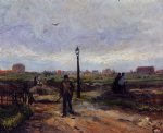 vincent van gogh outskirts of paris painting-23590