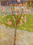 peach tree in blossom by vincent van gogh painting
