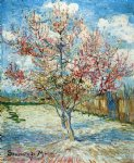 vincent van gogh peach trees in blossom v painting
