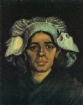 portrait paintings - peasant woman portrait of gordina de groot v by vincent van gogh