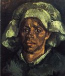 portrait paintings - peasant woman portrait of gordina de groot by vincent van gogh
