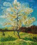 pink peach tree by vincent van gogh painting