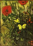 vincent van gogh poppies and buttreflies painting-23626