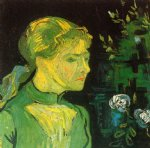portrait paintings - portrait of adeline ravoux v by vincent van gogh