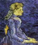 portrait paintings - portrait of adeline ravoux vi by vincent van gogh
