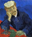 portrait paintings - portrait of doctor gachet by vincent van gogh