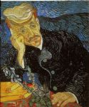 portrait paintings - portrait of dr. gachet by vincent van gogh