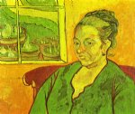 portrait paintings - portrait of madame augustine roulin by vincent van gogh