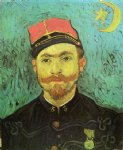portrait paintings - portrait of milliet second lieutnant of the zouaves by vincent van gogh