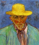 portrait paintings - portrait of patience escalier shepherd in provence by vincent van gogh