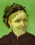 portrait paintings - portrait of the artist s mother by vincent van gogh