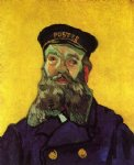 portrait paintings - portrait of the postman joseph roulin ii by vincent van gogh