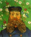 portrait paintings - portrait of the postman joseph roulin iv by vincent van gogh