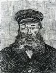 portrait paintings - portrait of the postman joseph roulin v by vincent van gogh