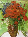 vincent van gogh red poppies and daisies painting-23673