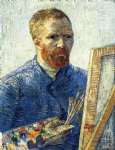 portrait paintings - self portrait as a painter by vincent van gogh
