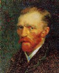 portrait paintings - self portrait v by vincent van gogh