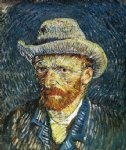 portrait paintings - self portrait with felt hat by vincent van gogh