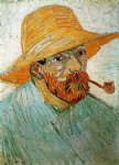 vincent van gogh self portrait with pipe and straw hat ii paintings