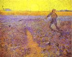 sower with setting sun after millet by vincent van gogh painting