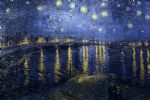 starry night over the rhone by vincent van gogh painting