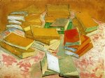 vincent van gogh still life french novels painting 23718