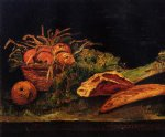 vincent van gogh still life with apples meat and a roll painting 23721